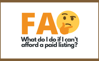 Protected: What do I do if I can't afford a paid listing?