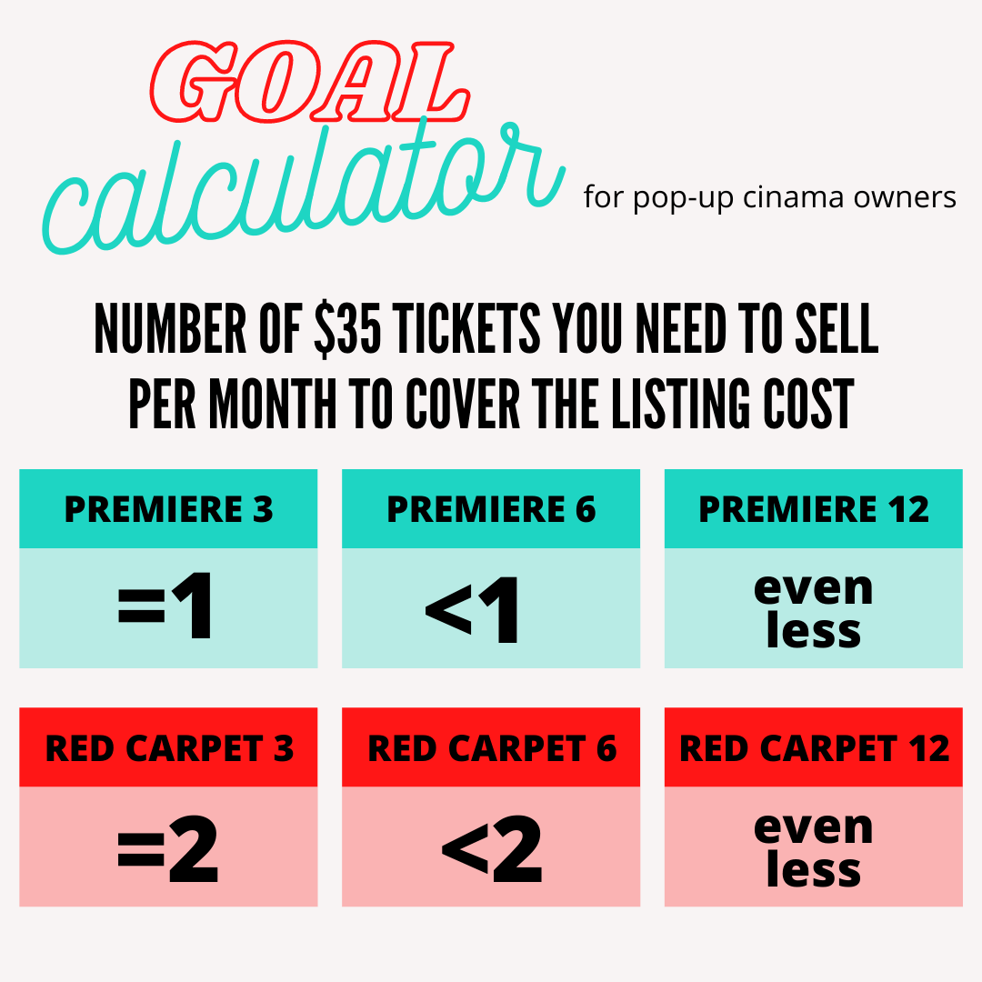 POP-UP OWNERS GOAL CALCULATOR